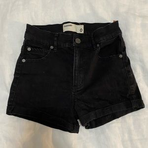High waisted black shorts from Garage.